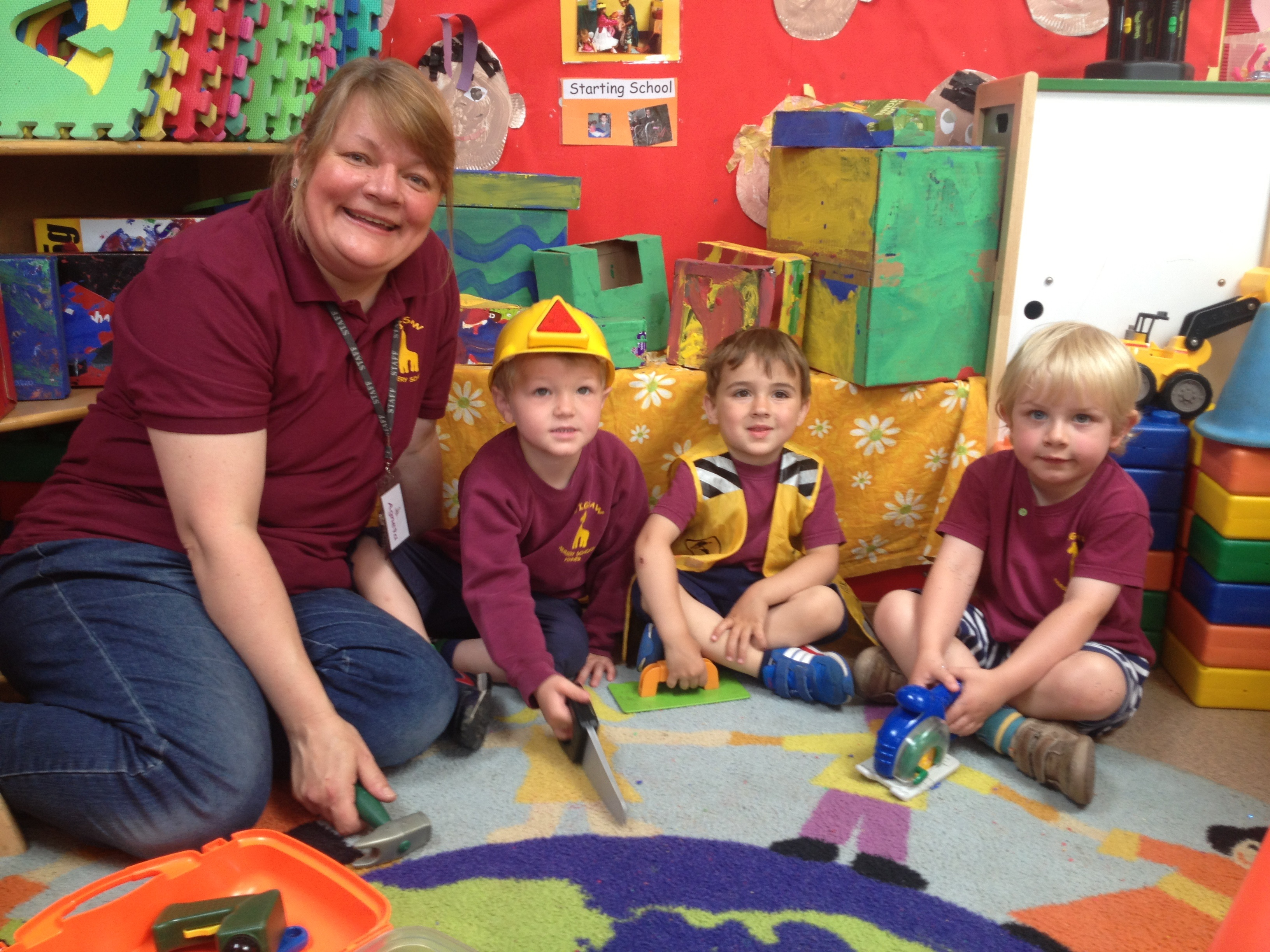 Staff and children at Jigsaw Nursery support our Bricks campaign