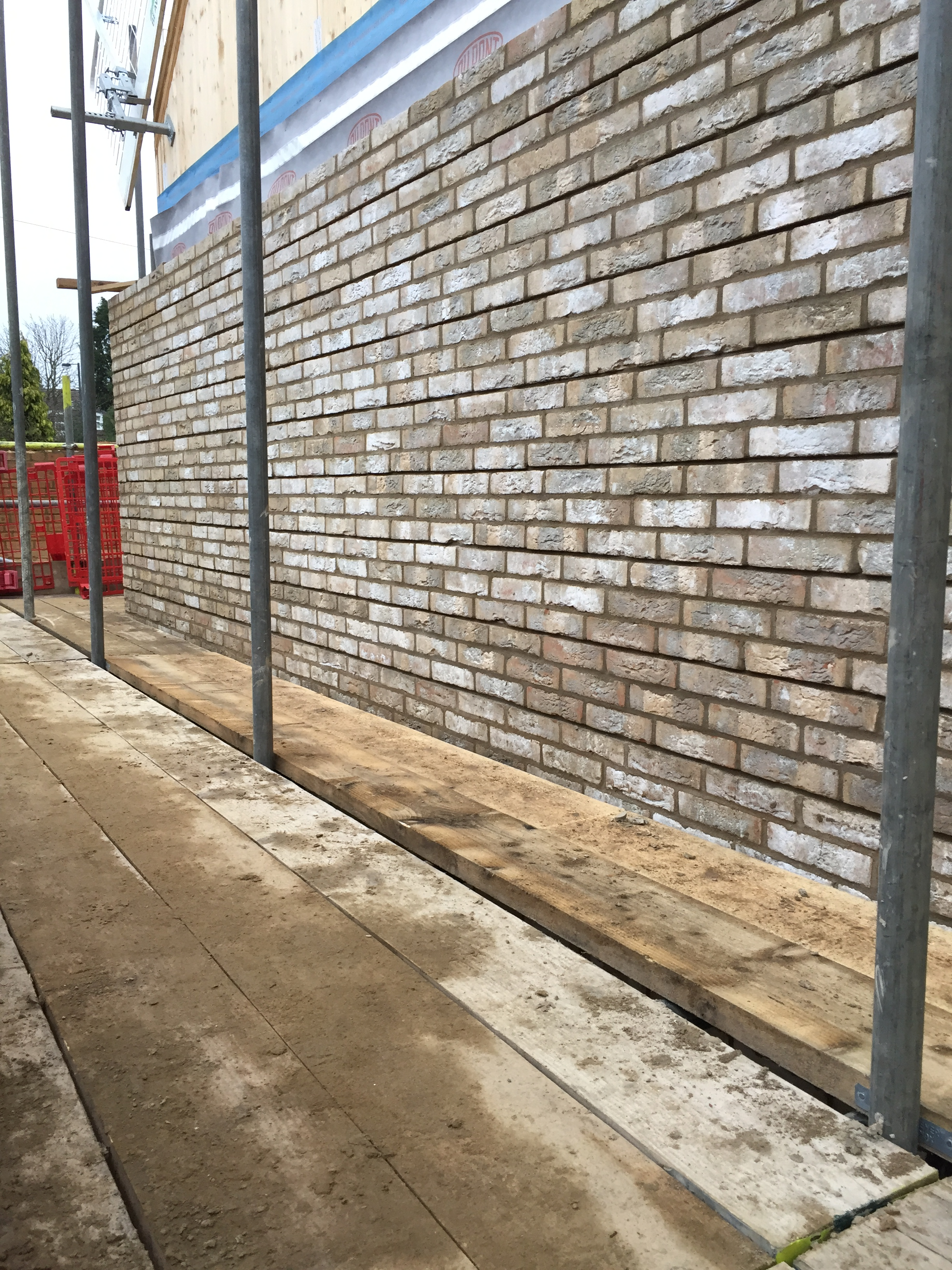 Wall brickwork